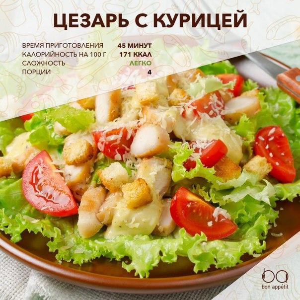 Салат цезарь без курицы классический