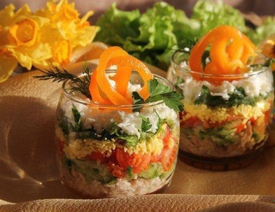 Вкусный лёгкий салат на ужин рецепт с