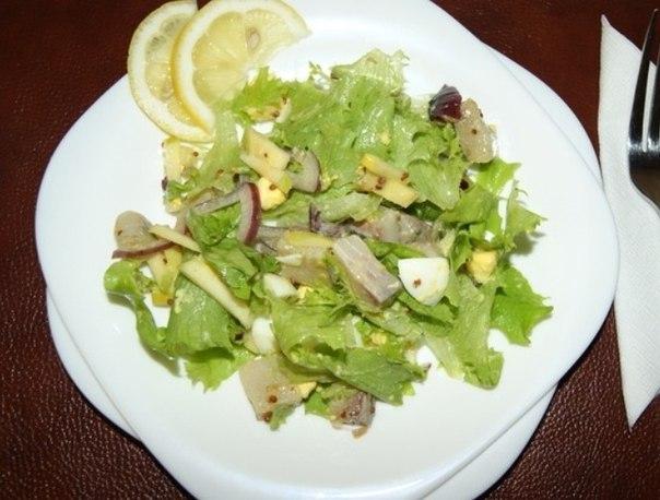 Салат с селедкой с пошагово