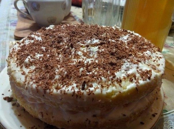 простой бисквитный торт с фото
