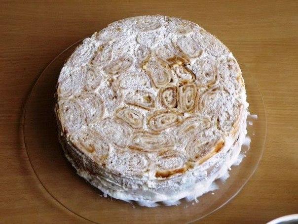 Торт трухлявый пень классический рецепт пошагово со сметанным