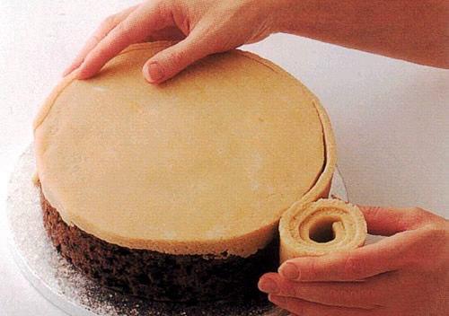 Торт из марципана в домашних условиях фото