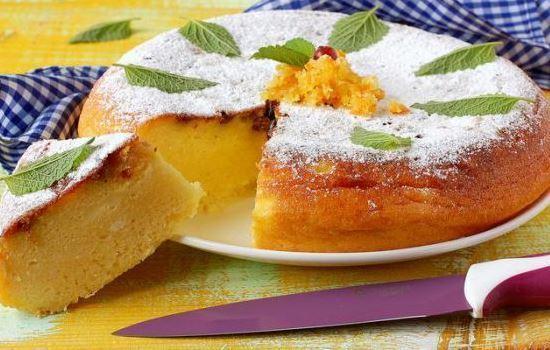 Творожно манный пирог в мультиварке рецепты с фото