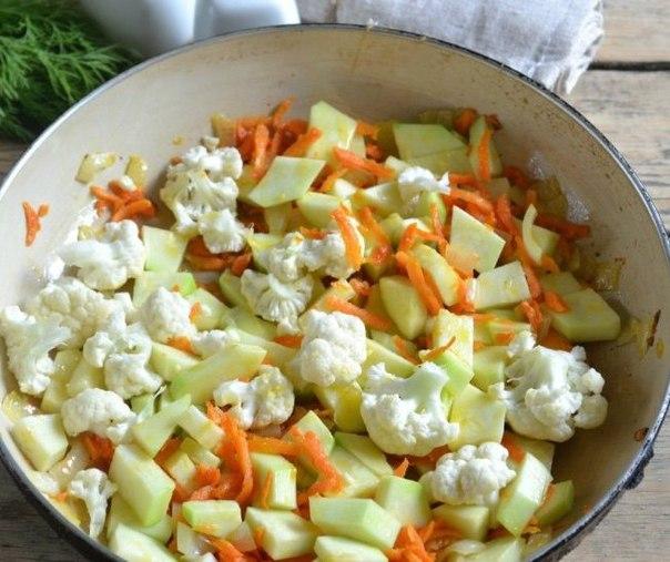 Овощное рагу с цветной капустой рецепт с пошагово