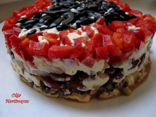 Салат коварство и любовь рецепт с фото пошагово
