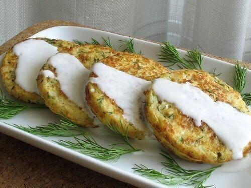 Оладьи с капустой и сыром