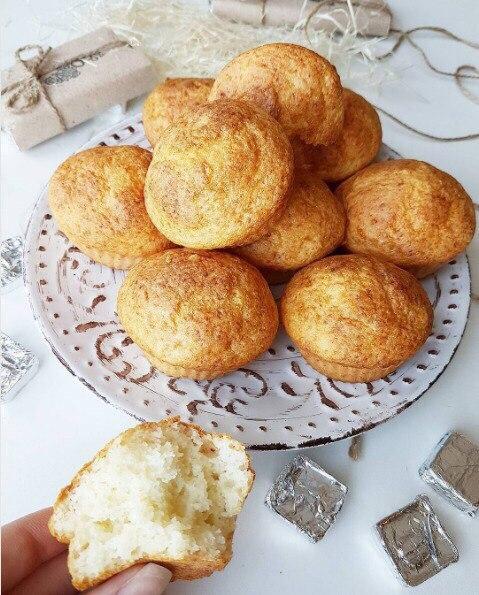 Творожные кексы без манки