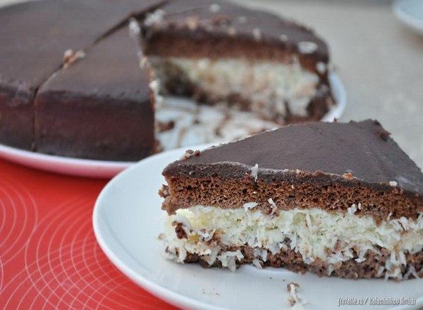 Торт баунти без выпечки рецепт с фото пошагово в домашних условиях
