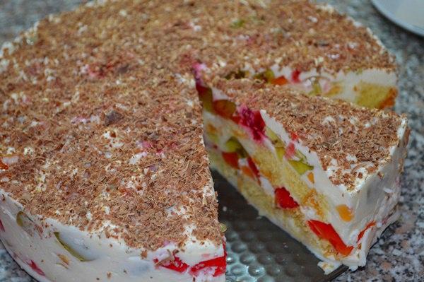 Рецепт торта з сиром та желе