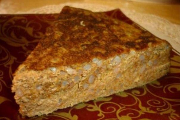 Пирог из печени с рисом рецепт