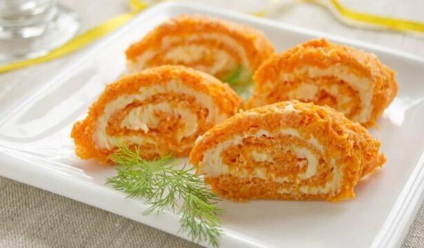 Рулет морковный диетический