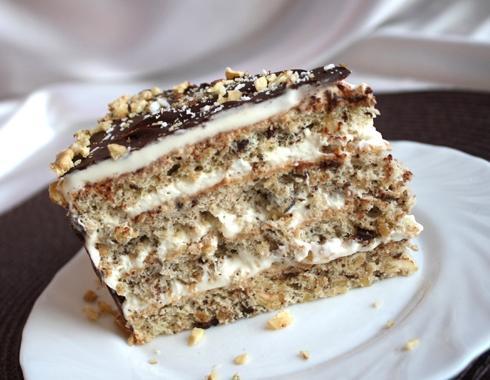 Ореховые коржи для торта рецепт