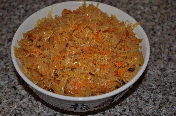 как приготовить тушёную капусту без мяса