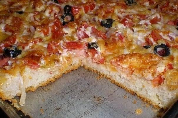 Пицца толстая рецепт с пошагово в