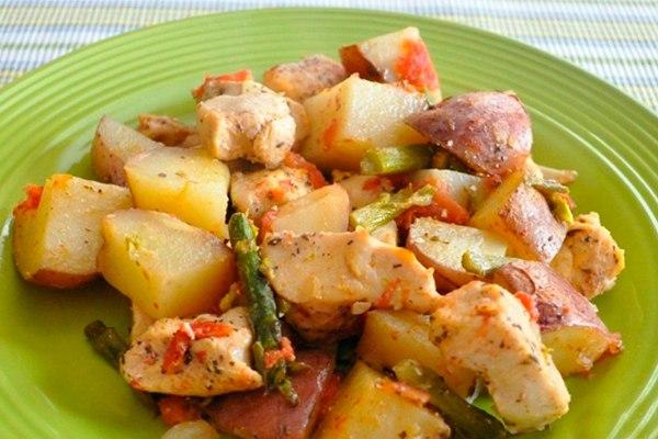 Что приготовить с куриной грудкой и картофелем