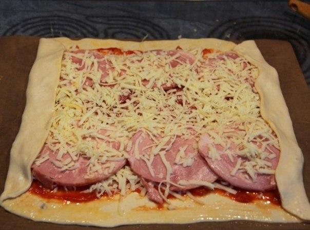 Рецепт завернутой пиццы