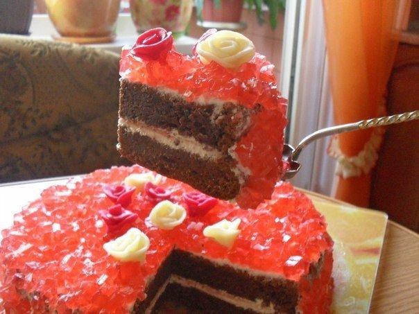 Торты в виде рубина