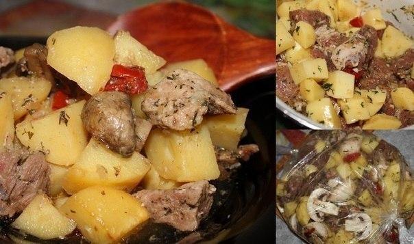 Мясо свинина с картошкой в духовке рецепты пошагово