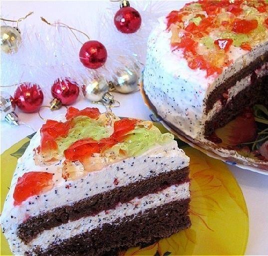 Простой торт в домашних условиях на кефире рецепт с фото