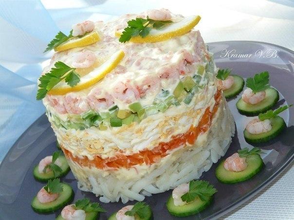 Простой салат с креветками рецепт простой рецепт 4