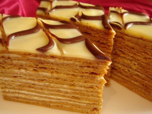 торт медовый тонкие коржи рецепт фото