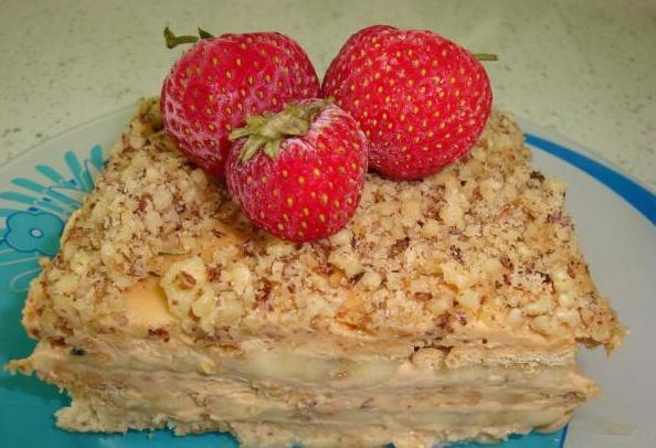 Фруктовый торт из печенья рецепт