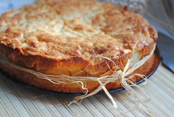 Рецепты пирогов яблок творога фото