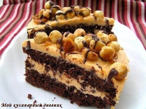 Шоколадный бисквит с орехами рецепт с фото