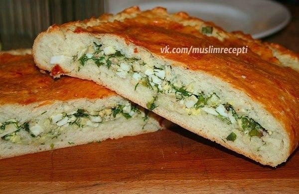 Рецепт пирога с яйцом и зеленым